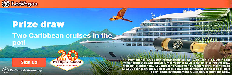 win a cruise and free spins