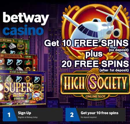 betway casino free spins no deposit