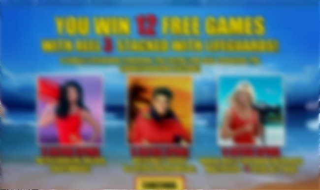baywatch free spins bonus