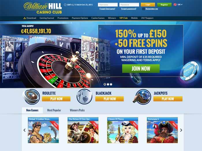 william hill casino club contact number